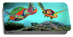 Caribbean Sea Turtles Portable Battery Charger