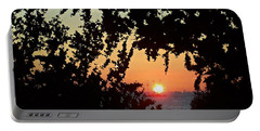 Caribbean Sunset Portable Battery Charger by David and Lynn Keller
