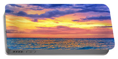 Caribbean Sunset Portable Battery Charger by Dominic Piperata