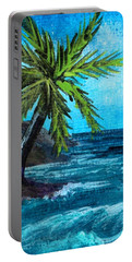 Portable Battery Charger featuring the painting Caribbean Vacation #1 by Anastasiya Malakhova