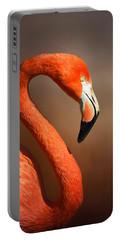 Caribean Flamingo Portrait Portable Battery Charger