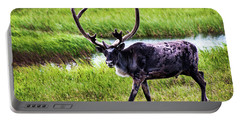 Portable Battery Charger featuring the photograph Caribou by Anthony Jones