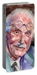 Carl Gustav Jung Portrait Portable Battery Charger