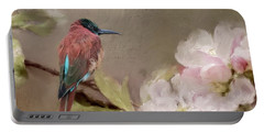 Carmine Bee-eater Portable Battery Charger by Eva Lechner