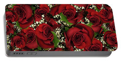 Carmine Roses Portable Battery Charger