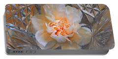 Carnation In Cut Glass 7 Portable Battery Charger by Lynda Lehmann