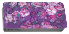 Portable Battery Charger featuring the digital art Carnation Inspired Art by Barbara Tristan
