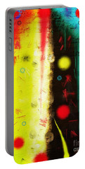 Portable Battery Charger featuring the digital art Carnival by Silvia Ganora