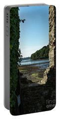 Portable Battery Charger featuring the photograph Photographs Of Cornwall Carnon Mine Window by Brian Roscorla