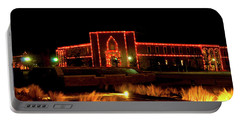 Portable Battery Charger featuring the photograph Carol Of Lights At Science Building by Mae Wertz