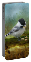 Carolina Chickadee Feeding Portable Battery Charger