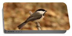 Carolina Chickadee On Branch Portable Battery Charger