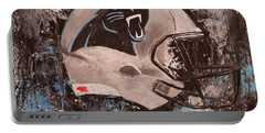 Carolina Panthers Football Helmet Painting Wall Art Portable Battery Charger