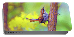 Portable Battery Charger featuring the photograph Carolina Wren In The Autumn Forest by Kerri Farley