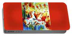 Portable Battery Charger featuring the painting Carousal 4 by Kathy Braud