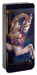 Portable Battery Charger featuring the photograph Carousel Memories by Marie Hicks