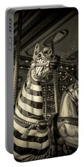 Carousel Zebra Portable Battery Charger by Caitlyn Grasso