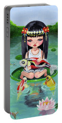 Carp And Girl Portable Battery Charger