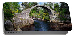 Carr Bridge Scotland Portable Battery Charger by Don and Bonnie Fink