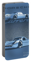 Portable Battery Charger featuring the digital art Carrera by Sassan Filsoof