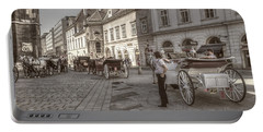Carriages Back To Stephanplatz Portable Battery Charger
