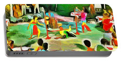 Carribean Scenes - Calypso And Limbo Portable Battery Charger by Wayne Pascall