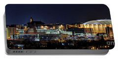 Carrier Dome And Syracuse Skyline Panoramic View Portable Battery Charger