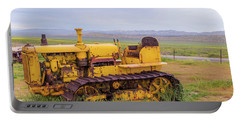 Portable Battery Charger featuring the photograph Carrizo Plain Bulldozer by Marc Crumpler