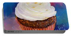 Portable Battery Charger featuring the painting Carrot Cake by Judy Fischer Walton