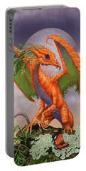 Carrot Dragon Portable Battery Charger by Stanley Morrison