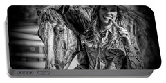 Carrots Cowgirls And Horses  Black Portable Battery Charger
