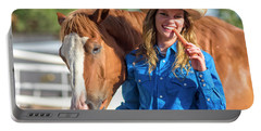 Carrots,cowgirls And Horses  Portable Battery Charger