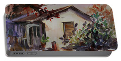 Portable Battery Charger featuring the painting Carson House California Landscape 6 by Xueling Zou