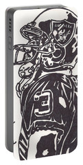 Portable Battery Charger featuring the drawing Carson Palmer 1 by Jeremiah Colley