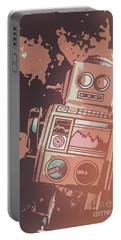 Cartoon Cyborg Robot Portable Battery Charger