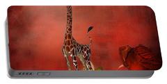 Cartoon Giraffe Portable Battery Charger