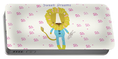 Cartoon Sweet Dreams Lion Portable Battery Charger