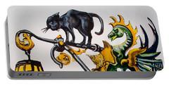 Caru Cu Bere - Antique Shop Sign Portable Battery Charger by Dora Hathazi Mendes