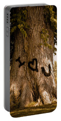 Carve I Love You In That Big White Oak Portable Battery Charger by Trish Tritz