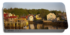 Carvers Harbor At Sunset, Vinahaven, Maine Portable Battery Charger