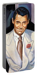 Cary Grant Portable Battery Charger by Spiros Soutsos