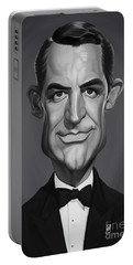 Portable Battery Charger featuring the digital art Celebrity Sunday - Cary Grant by Rob Snow
