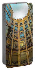 Portable Battery Charger featuring the photograph Casa Mila - Barcelona by Colleen Kammerer