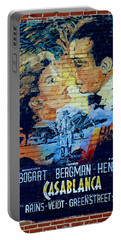 Portable Battery Charger featuring the photograph Casablanca Mural 2013 by Padre Art