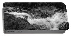 Cascade Stream Gorge, Rangeley, Maine  -70756-70771-pano-bw Portable Battery Charger