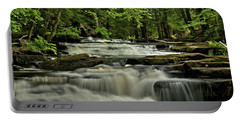 Cascades In The Rain Portable Battery Charger