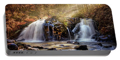 Portable Battery Charger featuring the photograph Cascades Of Light by Debra and Dave Vanderlaan
