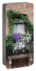 Cascading Floral Balcony Portable Battery Charger
