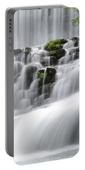 Portable Battery Charger featuring the photograph Cascading Mirror Lake Falls by Renee Hardison