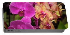 Cascading Orchids Portable Battery Charger by Penny Lisowski